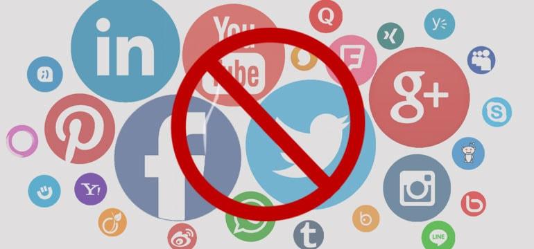 banned on social media
